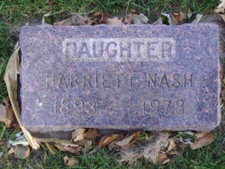 NASH, HARRIETT - Minnehaha County, South Dakota | HARRIETT NASH - South Dakota Gravestone Photos