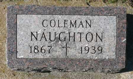 NAUGHTON, COLEMAN - Minnehaha County, South Dakota   COLEMAN NAUGHTON - South Dakota Gravestone Photos