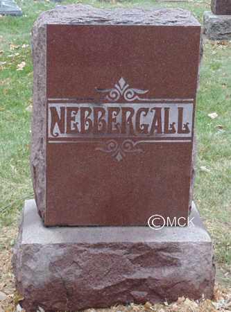 NEBBERGALL, HEADSTONE - Minnehaha County, South Dakota | HEADSTONE NEBBERGALL - South Dakota Gravestone Photos