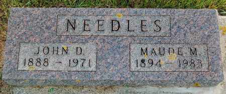NEEDLES, JOHN D. - Minnehaha County, South Dakota   JOHN D. NEEDLES - South Dakota Gravestone Photos
