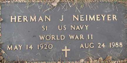 NEIMEYER, HERMAN J. (WWII) - Minnehaha County, South Dakota   HERMAN J. (WWII) NEIMEYER - South Dakota Gravestone Photos