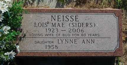 NEISSE, LYNNE ANN - Minnehaha County, South Dakota | LYNNE ANN NEISSE - South Dakota Gravestone Photos