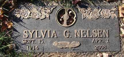 NELSEN, SYLVIA G. - Minnehaha County, South Dakota | SYLVIA G. NELSEN - South Dakota Gravestone Photos