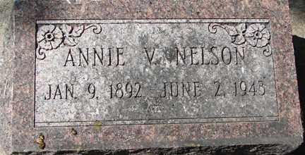 NELSON, ANNIE V. - Minnehaha County, South Dakota   ANNIE V. NELSON - South Dakota Gravestone Photos