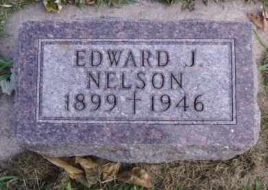 NELSON, EDWARD J. - Minnehaha County, South Dakota   EDWARD J. NELSON - South Dakota Gravestone Photos