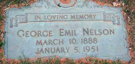 NELSON, GEORGE EMIL - Minnehaha County, South Dakota   GEORGE EMIL NELSON - South Dakota Gravestone Photos