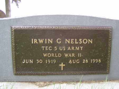 NELSON, IRWIN G. - Minnehaha County, South Dakota | IRWIN G. NELSON - South Dakota Gravestone Photos