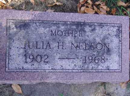 NELSON, JULIA H. - Minnehaha County, South Dakota | JULIA H. NELSON - South Dakota Gravestone Photos
