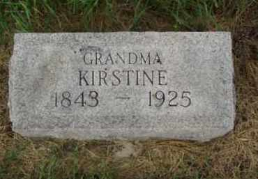 NELSON, KIRSTINE - Minnehaha County, South Dakota | KIRSTINE NELSON - South Dakota Gravestone Photos