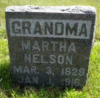 NELSON, MARTHA - Minnehaha County, South Dakota | MARTHA NELSON - South Dakota Gravestone Photos