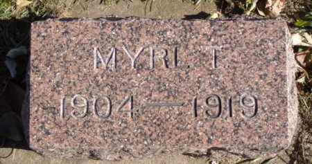 NELSON, MYRL T. - Minnehaha County, South Dakota | MYRL T. NELSON - South Dakota Gravestone Photos