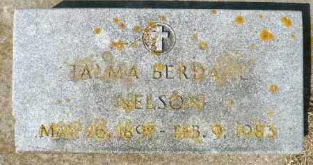 BERDAHL NELSON, TALMA - Minnehaha County, South Dakota   TALMA BERDAHL NELSON - South Dakota Gravestone Photos