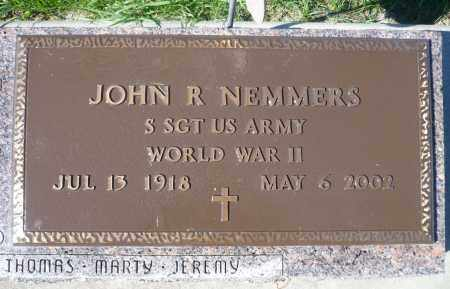 NEMMERS, JOHN R. (WWII) - Minnehaha County, South Dakota | JOHN R. (WWII) NEMMERS - South Dakota Gravestone Photos