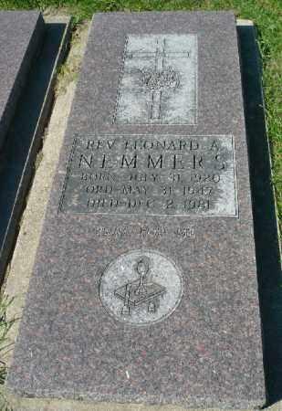 NEMMERS, LEONARD A. REV. - Minnehaha County, South Dakota | LEONARD A. REV. NEMMERS - South Dakota Gravestone Photos