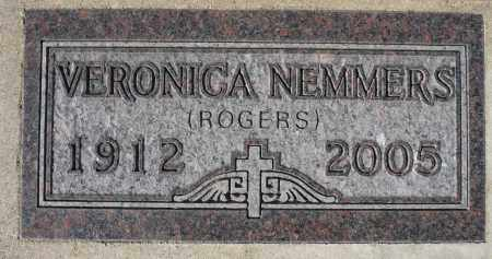 ROGERS NEMMERS, VERONICA - Minnehaha County, South Dakota | VERONICA ROGERS NEMMERS - South Dakota Gravestone Photos