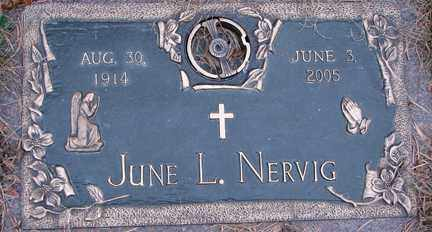 NERVIG, JUNE L. - Minnehaha County, South Dakota | JUNE L. NERVIG - South Dakota Gravestone Photos