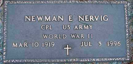 NERVIG, NEWMAN E. - Minnehaha County, South Dakota | NEWMAN E. NERVIG - South Dakota Gravestone Photos