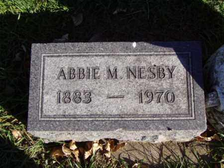 NESBY, ABBIE M. - Minnehaha County, South Dakota | ABBIE M. NESBY - South Dakota Gravestone Photos