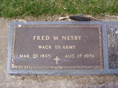 NESBY, FRED MARTIN - Minnehaha County, South Dakota | FRED MARTIN NESBY - South Dakota Gravestone Photos
