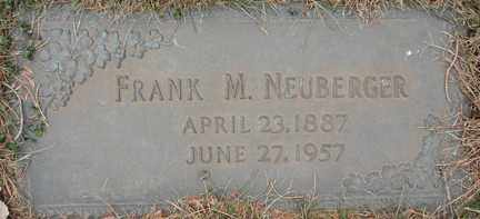 NEUBERGER, FRANK M. - Minnehaha County, South Dakota | FRANK M. NEUBERGER - South Dakota Gravestone Photos