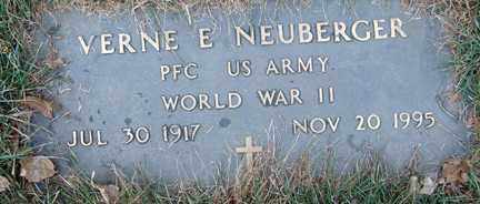 NEUBERGER, VERNE E. (WWII) - Minnehaha County, South Dakota | VERNE E. (WWII) NEUBERGER - South Dakota Gravestone Photos
