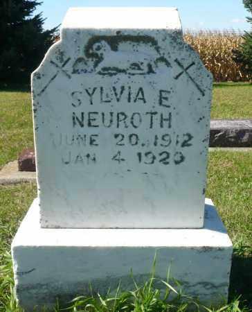 NEUROTH, SYLVIA E. - Minnehaha County, South Dakota | SYLVIA E. NEUROTH - South Dakota Gravestone Photos