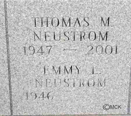 NEUSTROM, EMMY L. - Minnehaha County, South Dakota | EMMY L. NEUSTROM - South Dakota Gravestone Photos