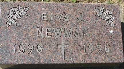NEWMAN, ELVA J. - Minnehaha County, South Dakota | ELVA J. NEWMAN - South Dakota Gravestone Photos