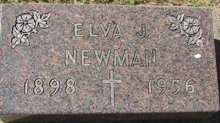 NEWMAN, ELVA J. - Minnehaha County, South Dakota | ELVA J. NEWMAN - South Dakota Gravestone Photos