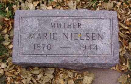 NIELSEN, MARIE - Minnehaha County, South Dakota   MARIE NIELSEN - South Dakota Gravestone Photos