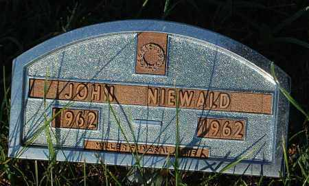 NIEWALD, JOHN - Minnehaha County, South Dakota | JOHN NIEWALD - South Dakota Gravestone Photos