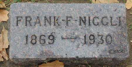 NIGGLI, FRANK F. - Minnehaha County, South Dakota | FRANK F. NIGGLI - South Dakota Gravestone Photos