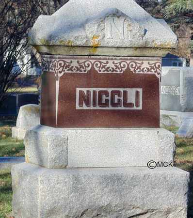 NIGGLI, HEADSTONE - Minnehaha County, South Dakota | HEADSTONE NIGGLI - South Dakota Gravestone Photos
