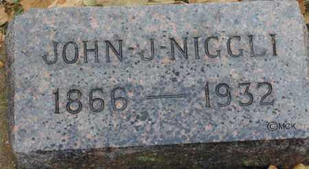 NIGGLI, JOHN J. - Minnehaha County, South Dakota | JOHN J. NIGGLI - South Dakota Gravestone Photos