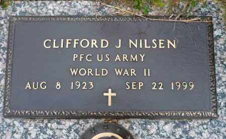 NILSEN, CLIFFORD J. - Minnehaha County, South Dakota | CLIFFORD J. NILSEN - South Dakota Gravestone Photos