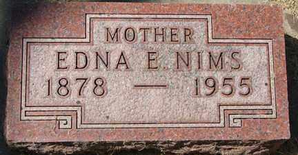 NIMS, EDNA E. - Minnehaha County, South Dakota   EDNA E. NIMS - South Dakota Gravestone Photos