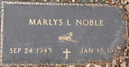 NOBLE, MARLYS L. - Minnehaha County, South Dakota | MARLYS L. NOBLE - South Dakota Gravestone Photos