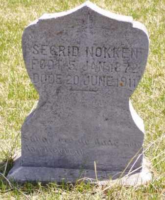 NOKKEN, SEGRID - Minnehaha County, South Dakota | SEGRID NOKKEN - South Dakota Gravestone Photos