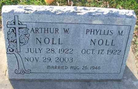 NOLL, ARTHUR W. - Minnehaha County, South Dakota | ARTHUR W. NOLL - South Dakota Gravestone Photos