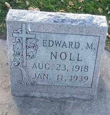 NOLL, EDWARD M. - Minnehaha County, South Dakota   EDWARD M. NOLL - South Dakota Gravestone Photos