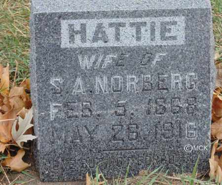 NORBERG, HATTIE - Minnehaha County, South Dakota | HATTIE NORBERG - South Dakota Gravestone Photos