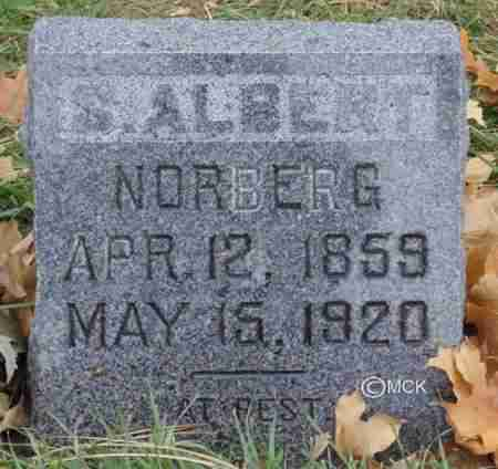 NORBERG, S. ALBERT - Minnehaha County, South Dakota | S. ALBERT NORBERG - South Dakota Gravestone Photos