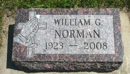 NORMAN, WILLIAM G. - Minnehaha County, South Dakota | WILLIAM G. NORMAN - South Dakota Gravestone Photos