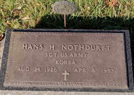 NOTHDURFT, HANS H. (MILITARY) - Minnehaha County, South Dakota | HANS H. (MILITARY) NOTHDURFT - South Dakota Gravestone Photos