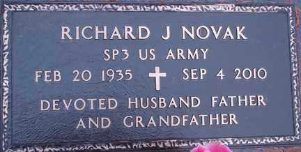 NOVAK, RICHARD J. - Minnehaha County, South Dakota | RICHARD J. NOVAK - South Dakota Gravestone Photos