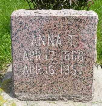 NESSAN NUSTAD, ANNA T. - Minnehaha County, South Dakota | ANNA T. NESSAN NUSTAD - South Dakota Gravestone Photos