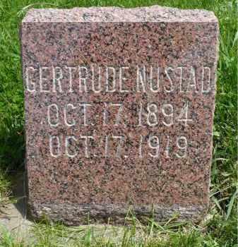 NUSTAD, GERTRUDE - Minnehaha County, South Dakota | GERTRUDE NUSTAD - South Dakota Gravestone Photos