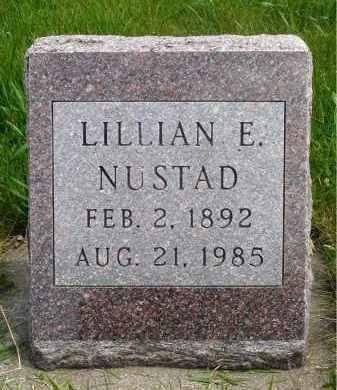 LARSON NUSTAD, LILLIAN ELIZABETH - Minnehaha County, South Dakota   LILLIAN ELIZABETH LARSON NUSTAD - South Dakota Gravestone Photos