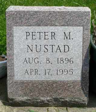 NUSTAD, PETER M. - Minnehaha County, South Dakota   PETER M. NUSTAD - South Dakota Gravestone Photos