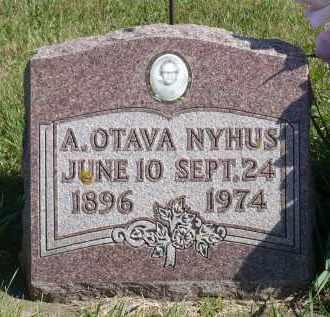 NYHUS, A. OTAVA - Minnehaha County, South Dakota | A. OTAVA NYHUS - South Dakota Gravestone Photos
